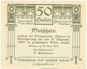 Алькофен 50 геллеров